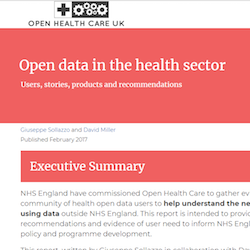 Open data in the health sector